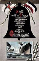 Passepartout Glückwunsch Ostern, Deutsche Kriegsschiffe, Glocke