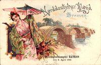 Bremen, Norddeutscher Lloyd Bremen, Reichspostdampfer Bayern, 6 April 1901