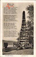 Bad Dürkheim, Blick auf das Jost Denkmal im Pfälzer Wald, Pfälzer Lied