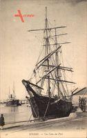 Sousse Tunesien, Un Coin du Port, Liegendes Segelschiff, Neurdein