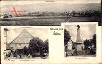 Börry Emmerthal, Totalansicht, Kriegerdenkmal, Gasthaus Fr. Jahns