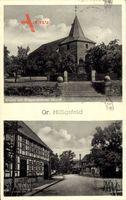 Groß Hilligsfeld Hameln, Kirche mit Kriegerdenkmal aus dem I. Weltkrieg