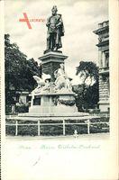 Poznań Posen, Blick auf das Kaiser Wilhelm Denkmal, Standbild