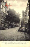Gdańsk Danzig, Blick in die Frauengasse, Treppe, Turm, Fassaden