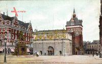 Gdańsk Danzig, Das Hohe Tor mit Stockturm und Kaiser Wilhelm Denkmal