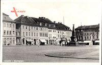 Kostrzyn nad Odrą Cüstrin Ostbrandenburg, Blick auf den Marktplatz, Denkmal