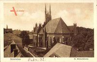 Schwiebus Ostbrandenburg, Blick auf die St. Michaeliskirche, Dächer