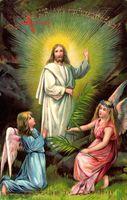 Glückwunsch Ostern, Der Herr ist auferstanden, Engel, Jesus