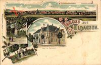 Eldagsen Springe, Stadtpanorama, Post, Ratskeller, Denkmal
