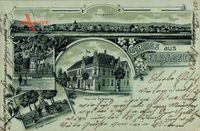 Eldagsen Springe, Stadtpanorama, Post, Rathaus, Denkmal