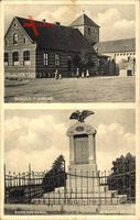 Algenstedt Gardelegen im Altmarkkreis Salzwedel, Schule mit Kriegerdenkmal