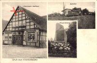 Steyerberg, Bahnhof, Kriegerdenkmal, Meyersieks Gasthaus