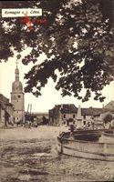 Romagne sous les Cotes Meuse, Blick auf einen Platz, Denkmal