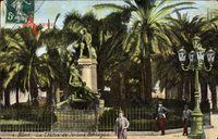 Bone Algerien, La Statue de Jerome Bertagna, Denkmal, Passanten, Laterne