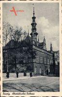 Gdańsk Danzig, Straßenpartie mit Blick auf Altstädtisches Rathaus