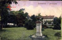 Lubsko Sommerfeld Ostbrandenburg, Blick auf den Wilhelmsplatz, Säule