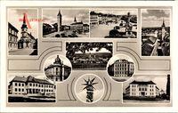 Vyškov Wischau Südmähren, Platz, Kirche, Denkmal, Straßenpartie
