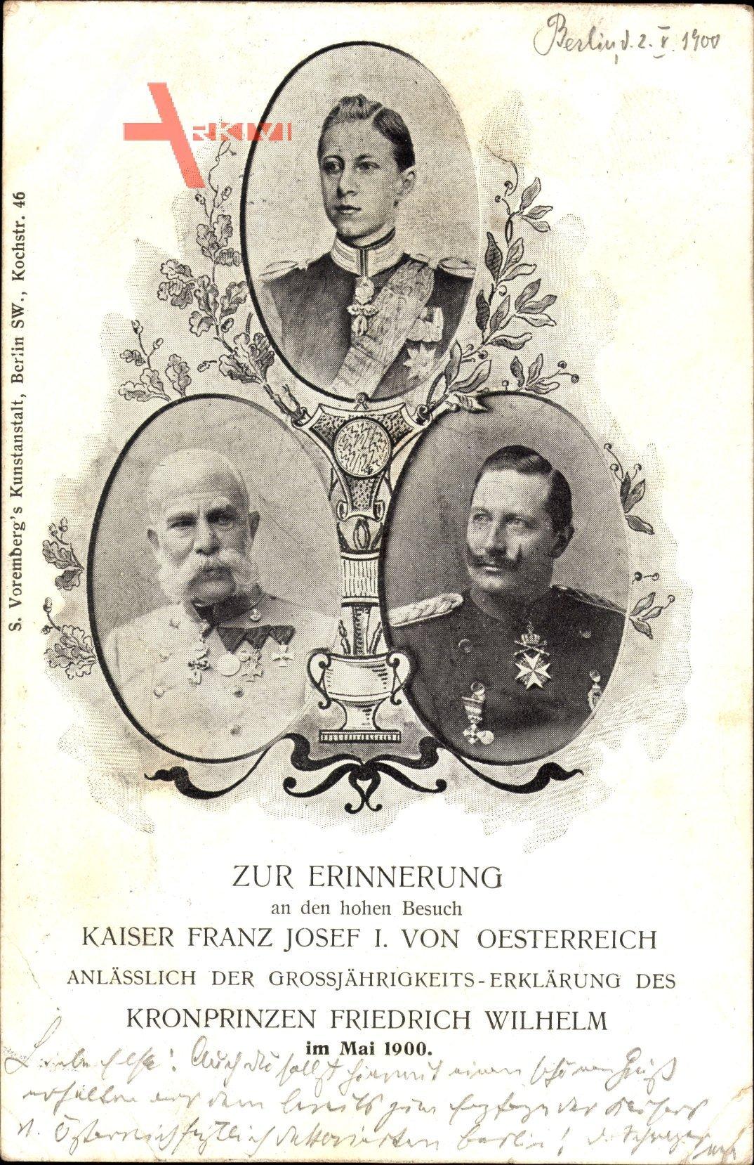 Kaiser Franz Josef I v. Österreich, Kaiser Wilhelm II., Kronprinz