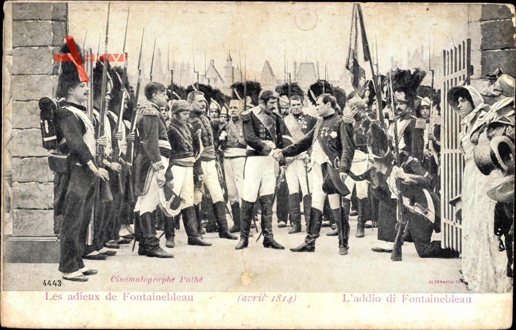 Les adieux de Fontainebleau, Napoleon Bonaparte, Soldaten, Avril 1814