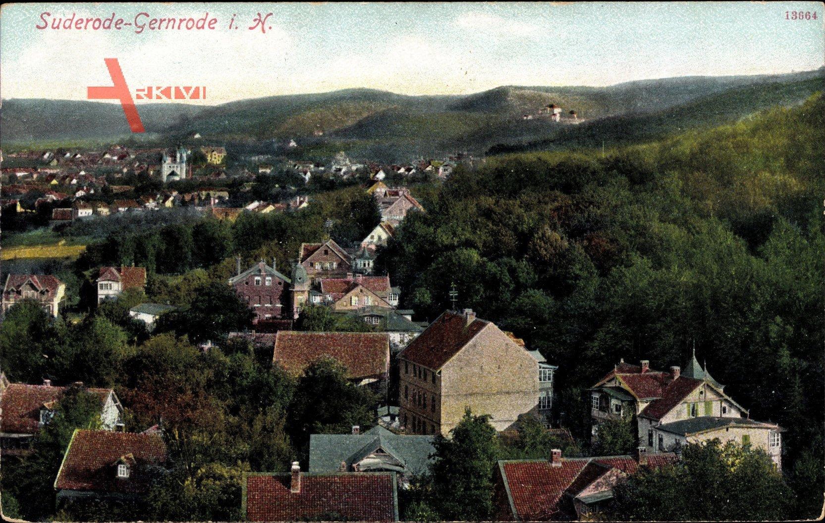 Bad Suderode im Harz, Teilansicht mit Blick auf Umgebung
