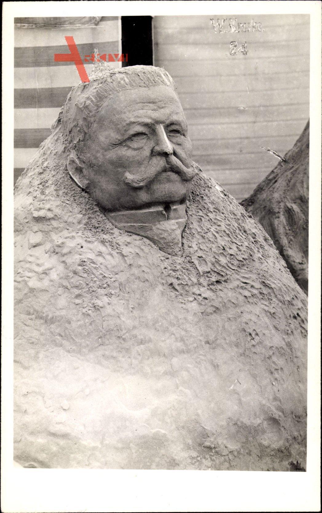 Generalfeldmarschall Paul von Hindenburg, Sandskulptur