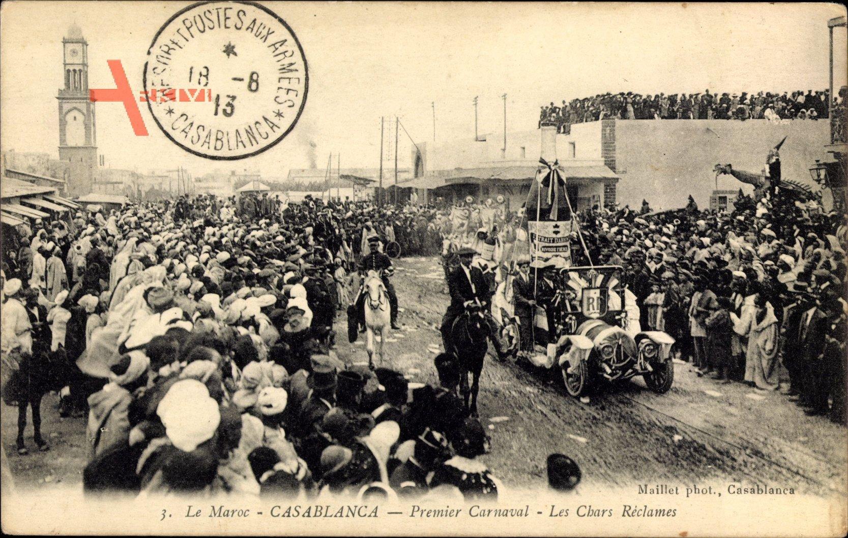 Casablanca Marokko, Premier Carnaval, les Chars Reclames