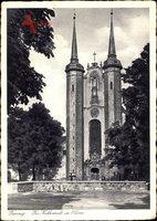 Oliva Gdańsk Danzig, Straßenpartie mit Blick auf die Kathedrale