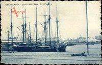 Casablanca Marokko, Quai Paul Chaix, Les Voiliers, Segelschiff