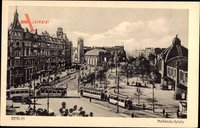 Berlin Schöneberg, Blick auf den Nolldendorfplatz, Straßenbahnen