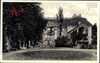Berlin Köpenick, Blick auf das Schloss mit Hof, Vorderansicht