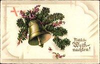 Frohe Weihnachten, Glocke tam Tannenzweig, Kitsch