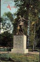 Berlin Spandau, Ansicht des Pionier Denkmals im Park