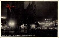 Berlin Charlottenburg, An der Kaiser Wilhelm Gedächtniskirche, Nacht