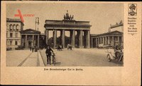 Berlin, Blick auf das Brandenburger Tor mit der Quadriga