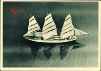 Das Schulschiff Großherzogin Elisabeth, Segelschiff, Fliegeraufnahme