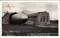 Luftschiff Graf Zeppelin, LZ 127, Luftschiffhalle, Ausfahrt