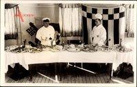 Buffet an Bord eines Dampfers, Norddeutscher Lloyd Bremen