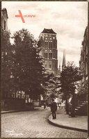 Gdańsk Danzig, Jopengasse, Straßenpartie, St. Elisabethkirche