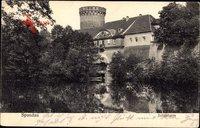 Berlin Spandau, Blick auf den Juliusturm, Gewässer, Tor, Balkon