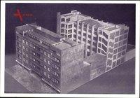 Berlin Tempelhof, Buchdrucker Verbandshaus, Modellaufnahme