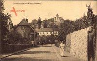 Niederlössnitz Kötzschenbroda Radebeul Sachsen, Straßenpartie im Ort