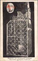 Kunstuhr, aus Strohhalmen gefertigt, August Lehrke aus Goslar Harz