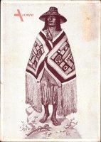 Karl May Museum, Tlingit Indianer, Zeremonialdecke und Rabenrassel