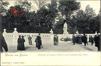 Berlin Tiergarten, Denkmal des Kaiser Friedrich am Brandenburger Tor