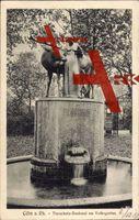 Köln am Rhein, Blick auf das Tierschutz Denkmal am Volksgarten