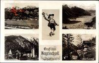 Bayrischzell im Mangfallgebirge Oberbayern, Hotel Sudelfeld, Kirche, Berge