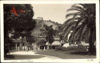Santos Brasilien, Praca Maua, Platz, Palmen, Gebäude, Burg