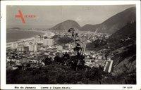 Rio de Janeiro Brasilien, Leme e Copacabana, Blick in den Ort aus der Höhe