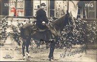 Fürst Otto von Bismarck, Auf einem Pferd sitzend, 1915, Liersch 7284