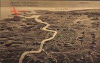 Landkarten Belgischer Kriegsschauplatz, Antwerpen und Umgebung, Zeppelin